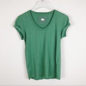 Anthropologie | t.la Scoop Neck Green Tee Shirt